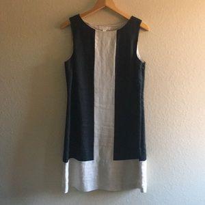 Kenar Linen Color Block Sheath Dress